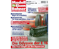 """модель Железнодорожный Моделизм 19696-85 Журнал """"Modell EisenBahner"""". Номер 9 / 1998. На немецком языке."""