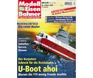 """модель Железнодорожный Моделизм 19702-85 Журнал """"Modell EisenBahner"""". Номер 3 / 1999. На немецком языке."""