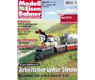 """модель Железнодорожный Моделизм 19724-85 Журнал """"Modell EisenBahner"""". Номер 1 / 2001. На немецком языке."""