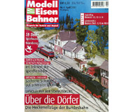 """модель Железнодорожный Моделизм 19727-85 Журнал """"Modell EisenBahner"""". Номер 4 / 2001. На немецком языке."""