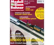 """модель Железнодорожный Моделизм 19730-85 Журнал """"Modell EisenBahner"""". Номер 7 / 2001. На немецком языке."""