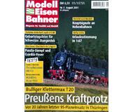 """модель Железнодорожный Моделизм 19731-85 Журнал """"Modell EisenBahner"""". Номер 8 / 2001. На немецком языке."""