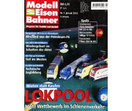 """модель Железнодорожный Моделизм 19736-85 Журнал """"Modell EisenBahner"""". Номер 1 / 2002. На немецком языке."""