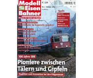 """модель Железнодорожный Моделизм 19737-85 Журнал """"Modell EisenBahner"""". Номер 2 / 2002. На немецком языке."""