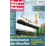 """модель Железнодорожный Моделизм 19743-85 Журнал """"Modell EisenBahner"""". Номер 8 / 2002. На немецком языке."""