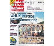 """модель Железнодорожный Моделизм 19763-85 Журнал """"Modell EisenBahner"""". Номер 4 / 2004. На немецком языке."""