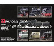 модель Железнодорожные модели 19881-85 Каталог RIVAROSSI. Новинки 1994. 42 стр. На английском и других языках.