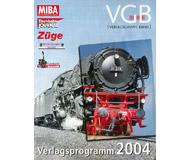 модель Железнодорожные модели 19900-85  VGB 2004г. Каталог книг и журналов, выпущенных в 2004 году на железнодорожную тематику. На немецком языке.