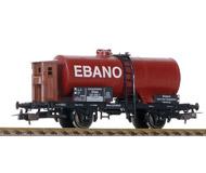 модель Железнодорожные модели 19932-40 Комиссионная модель. Двухосная цистерна EBANO. NEM-шахты для установки сцепок. Стандартные сцепки с накидной петлей. Металлические колесные пары. Плохо держится одна подножка, желательно подклеить. Без коробки.