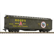 модель Horston 20233-85 Четырёхосный рефрижератор для перевозки молока H.P.HODS & SONS MILK . Сцепки Horn Hook. Производство Athearn. В коробке от вагона Athearn 5463. Собран, в коробке. Получен на реализацию из магазина моделей, на коробке имеется стикер с ценой. Фото выполнено с продаваемой модели.