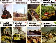 модель ZYX 6649-29 Комиссионная модель. Журналы Modell Eisenbahner. 1986 №№ 2,3,7,8,9,10,11,12. Всего 8 номеров. Фотография выполнена с продаваемых журналов