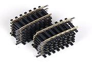 модель ZYX 8135-67 Комиссионная модель. Рельсы профильные высотой 2,5 мм. Рельсы радиусные R3 7°30. Комплект 12 шт. Производство ROCO. Артикул по каталогу ROCO 42243. Рельсы не использовались, коробочного хранения. В родной коробке Фотография выполнена с продаваемого комплекта.