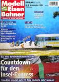 """модель Железнодорожный Моделизм 9080-54 Журнал """"Modell EisenBahner"""". Номер 9 / 1999, на немецком языке."""