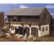 модель Vollmer 43737 Овчарня с овцами. Размер  142x100x95 мм. Артикул по старому каталогу Vollmer 3737, артикул по новому каталогу Vollmer 43737