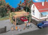 модель Vollmer 45128  Набор для сборки car port. 2-stall. Размер  6.5 x 5.5 x 3.5 см.