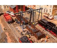 модель Vollmer 45772 Era III Krumbach Locomotive Coaling Station - Набор для сборки. -- Bunker & Overhead Bucket Crane. Размер   18.2 x 26.3x 11см.