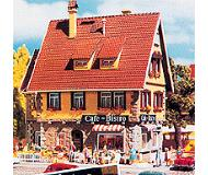модель Vollmer 47695  Набор для сборки.house with cafe-bistro. with interior and interior lighting. Размер  10.7 x 8.3 x 10.8 см.